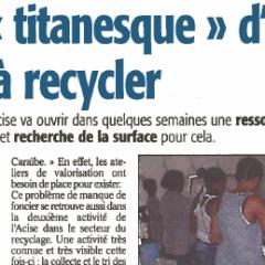 Un potentiel titanesque d'encombrants à recycler