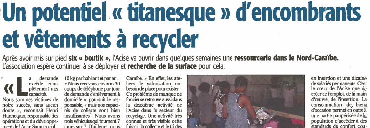 Un potentiel titanesque d'encombrants à recycler